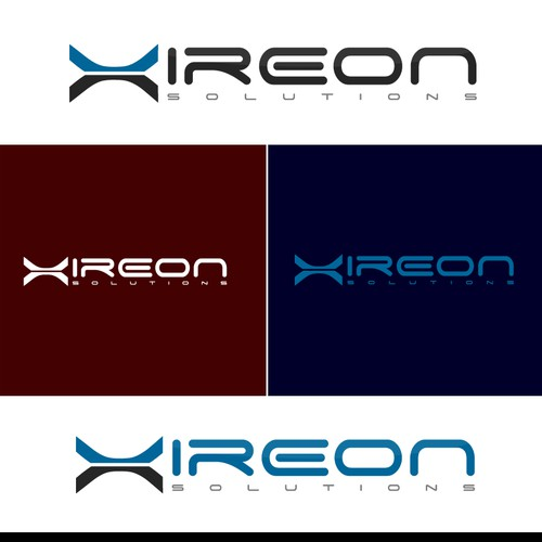 Create the next logo and business card for xireon solutions