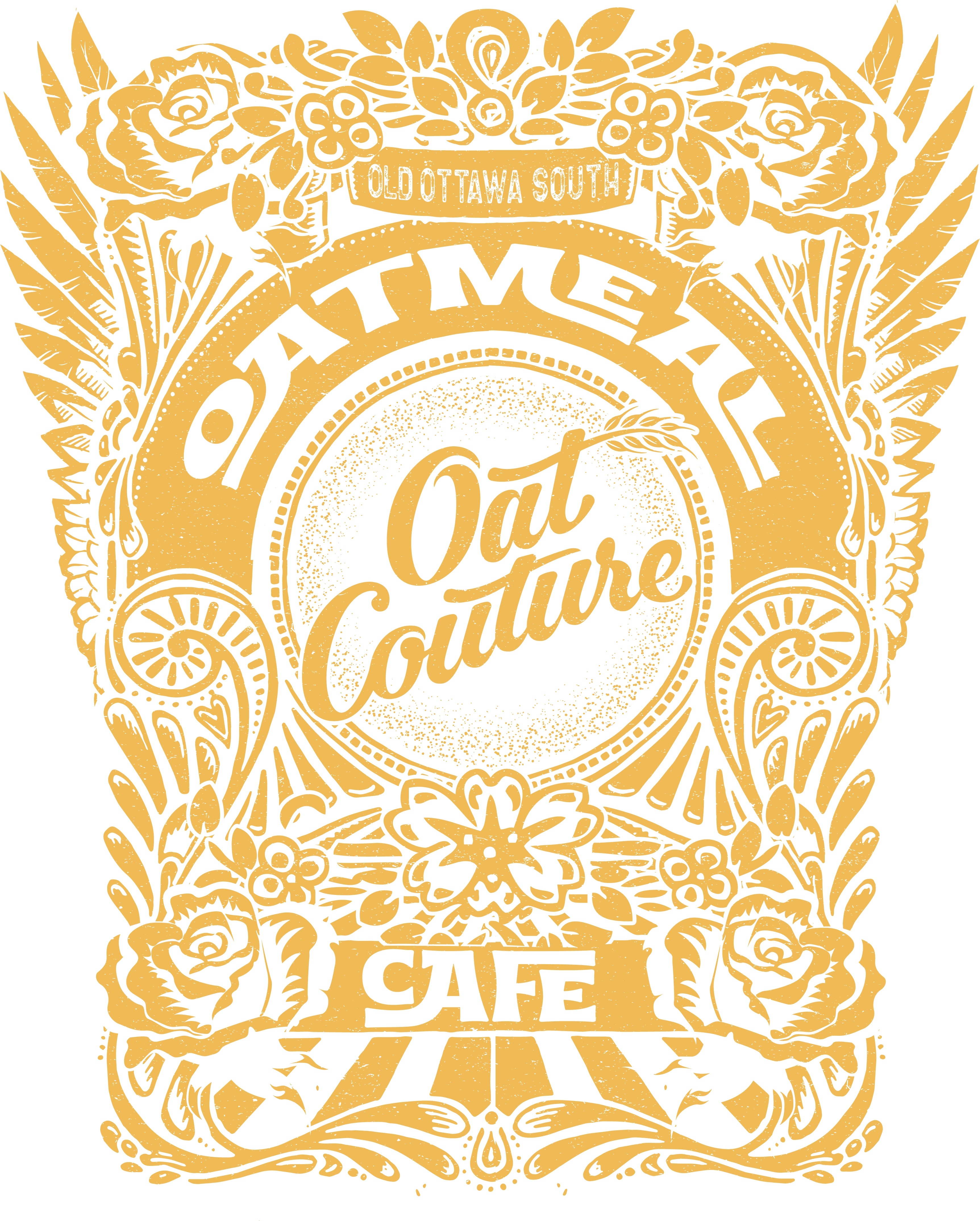 tshirt for an oatmeal cafe