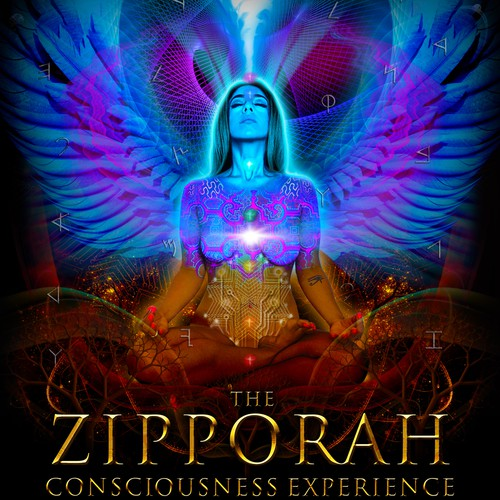 Psychedelic visionary graphic for Conscious Zipporah