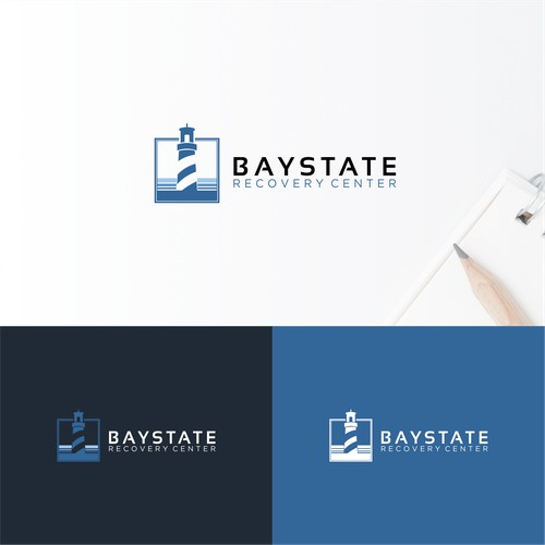 Simple LightHouse Logo concept For Baystate Recovery Center