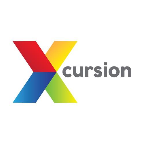 Simple Xcursion Logo Concept