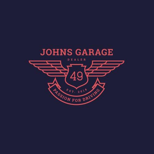 concept logo for johns garage