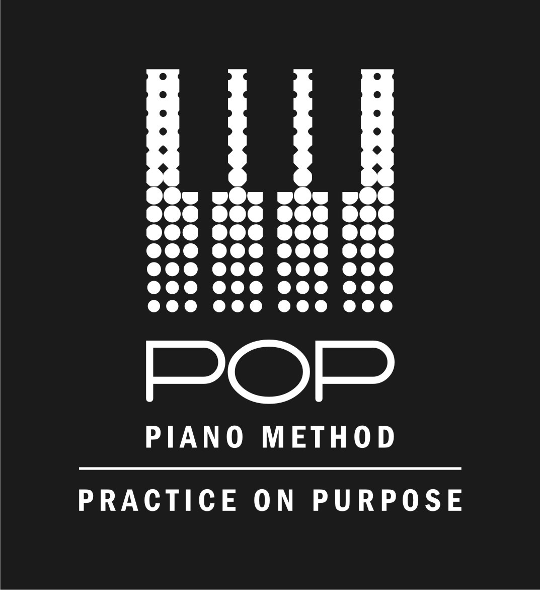 Creative, swaky design for a POP Piano Method