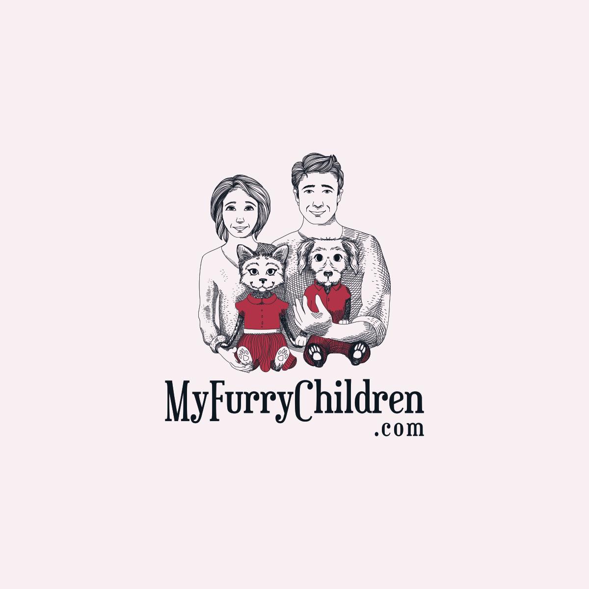 MyFurryChildren.com Logo design