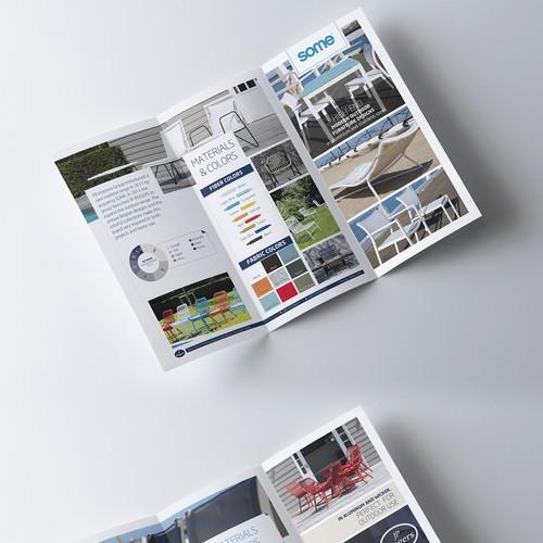 Brochure for an International furniture company.