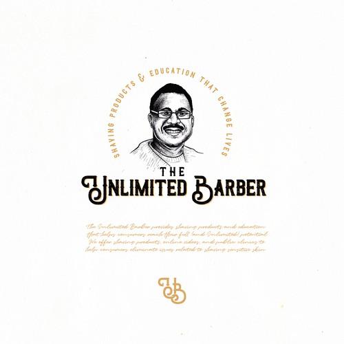 Vintage logo design for barber