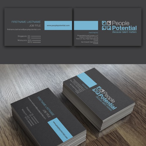 Create a new logo and business card for a branded professional service firm.