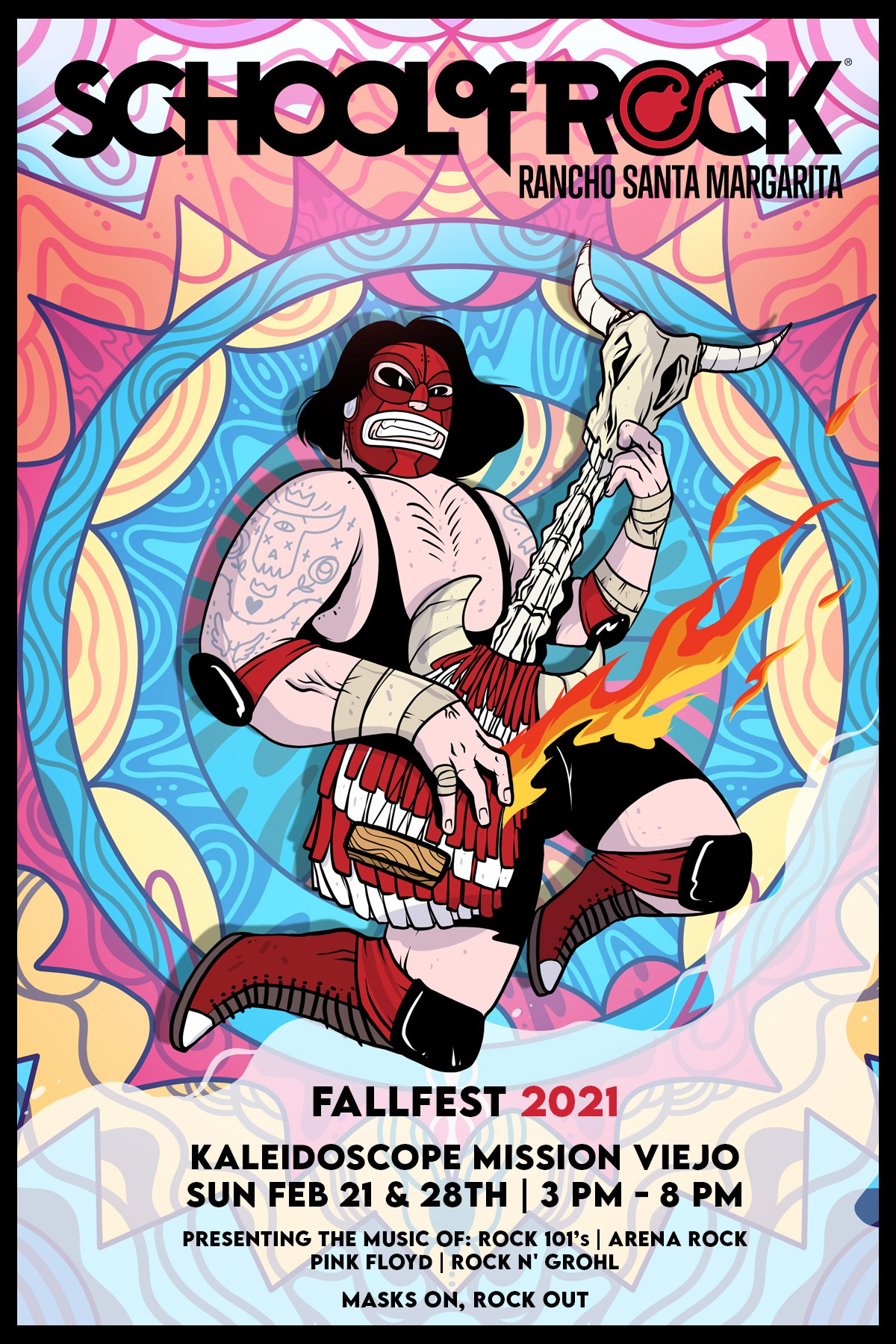 Show Poster - Fallfest 2021 - School of Rock Rancho Santa Margarita