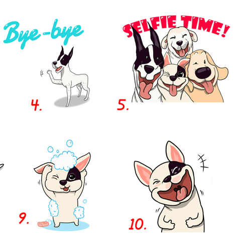 Line Characters for Taiwan Companion Animal Support Association