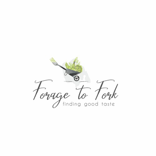 Food blog logo design