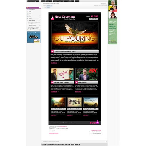 Newsletter Template for  New Covenant Church Australia