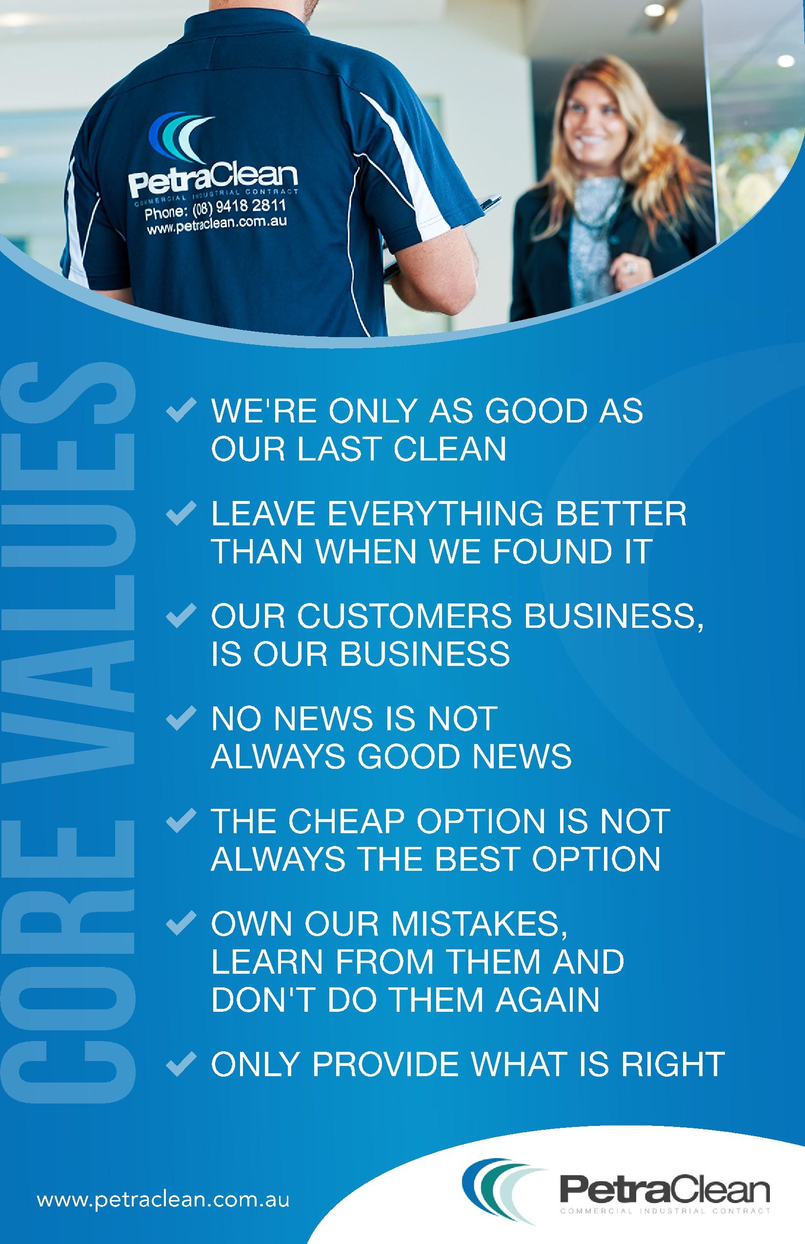 Impactful company poster