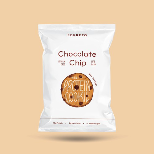 Chocolate chip cookie snack bag