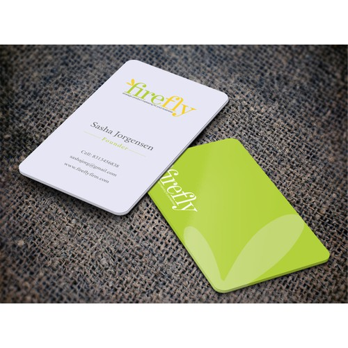 """Create a business card for """"Firefly"""" marketing firm in Silicon Valley"""