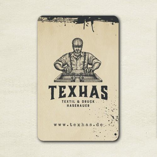 Logo design for TexHas - textile printing company