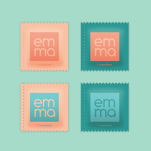 Package design concept for EMMA condoms