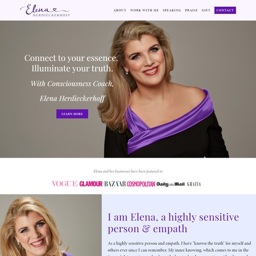 Personal Brand Website For Elena Herdieckerhoff