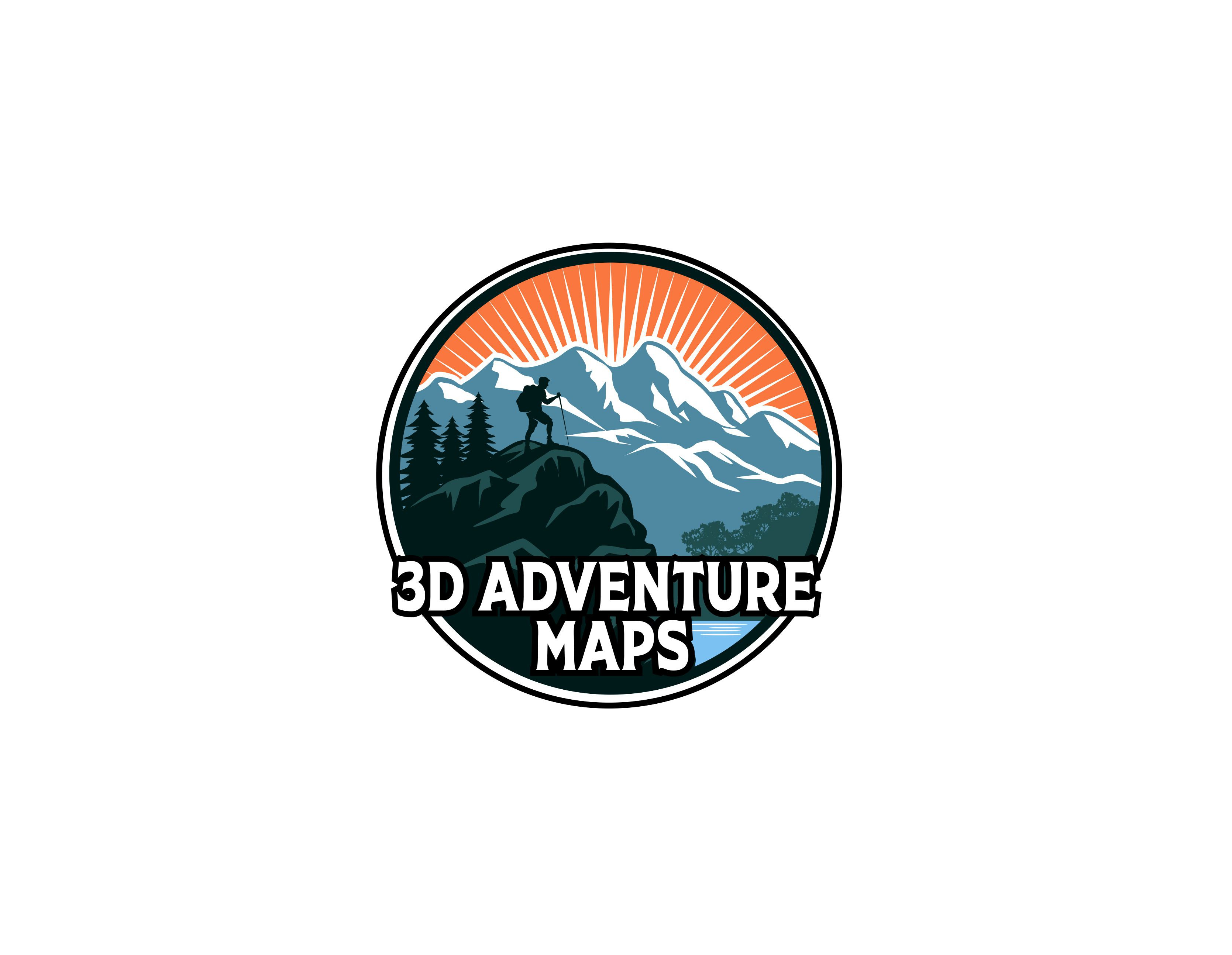 Design a logo for our beautiful 3D terrain maps that appeals to mountain climbers and hikers