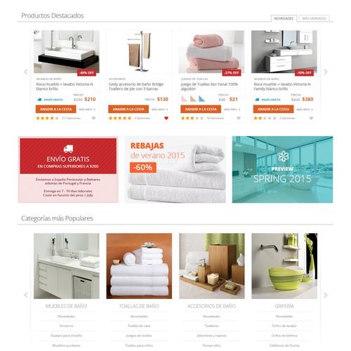 Layout for bañoidea.com