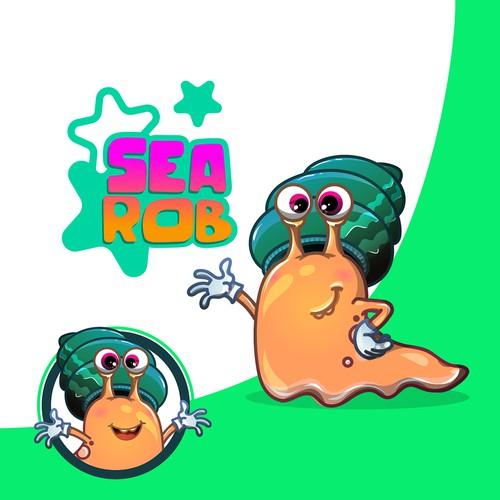 Friendly Cartoon Snail