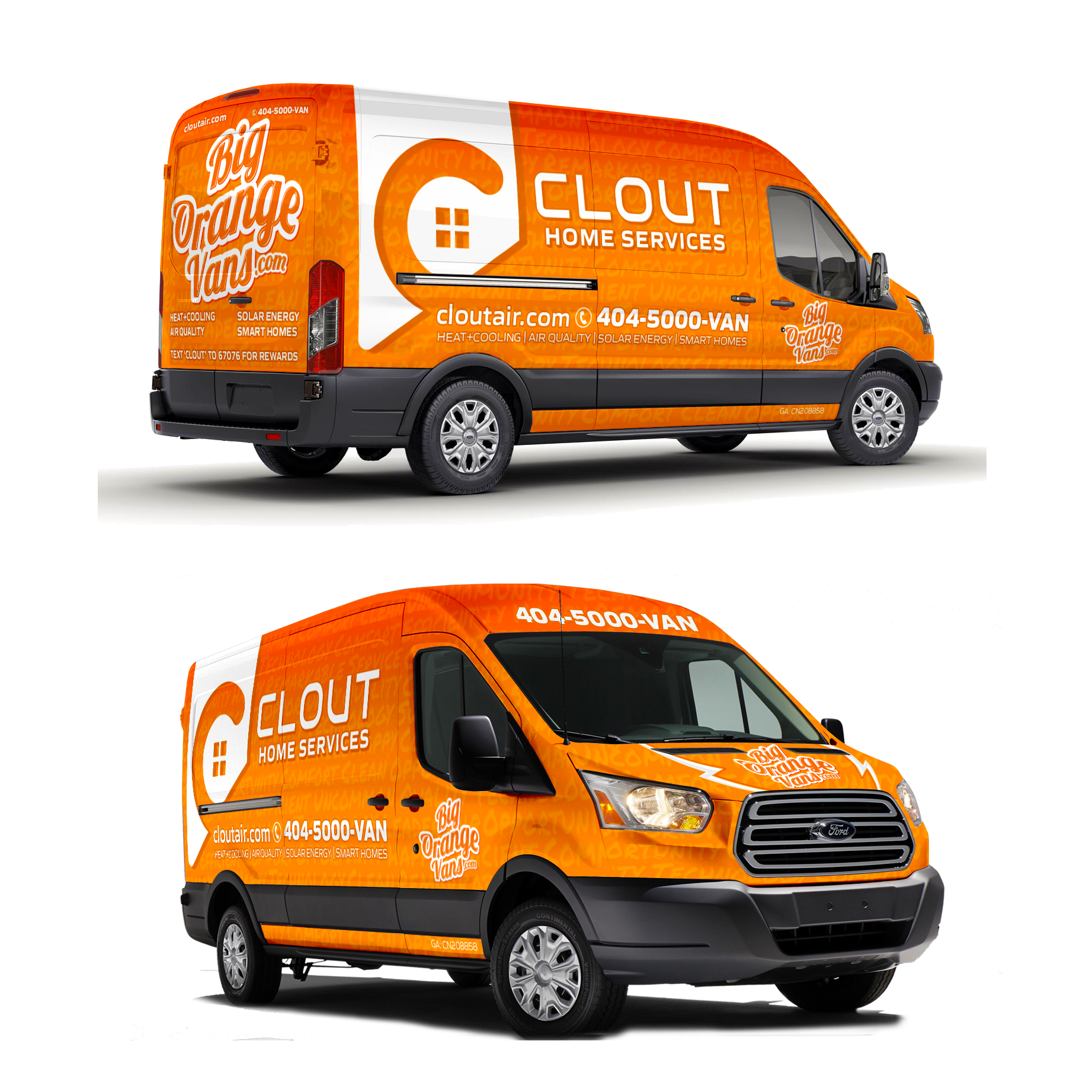 Design an ICONIC Van Wrap for Home Services Start-up