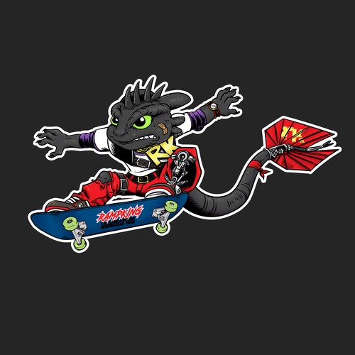 mascot design for skateboard company