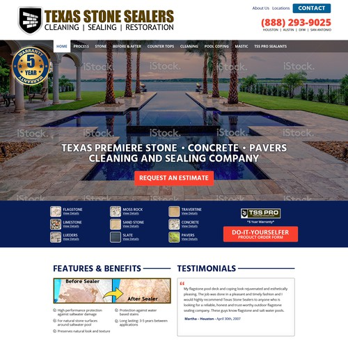Website Project -- Texas Stone