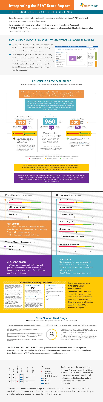 Simple Score Report Infographic