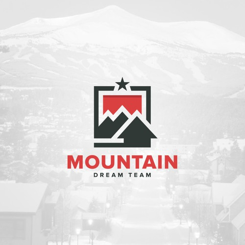 Minimal mountain logo design