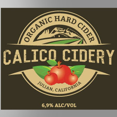 Label for an Organic Hard Cider
