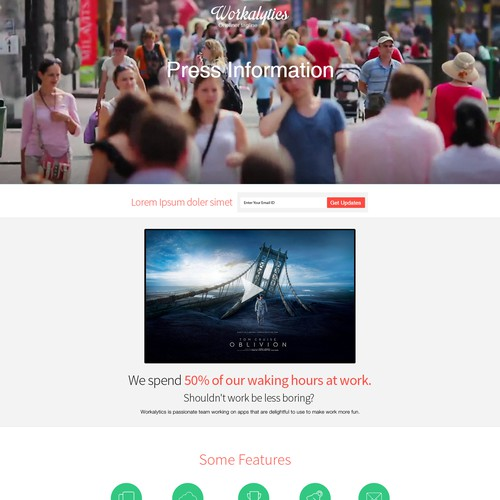 Workalytics pre-launch landing page