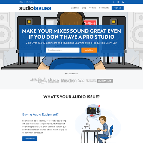 Web design for Audio Issues