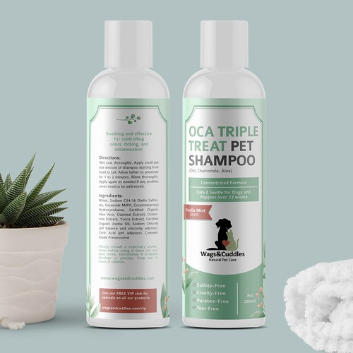 Pet Shampoo Bottle Label
