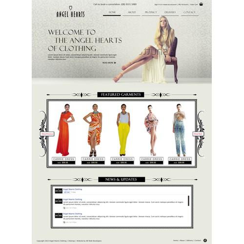 Elegant & classy design for a women's fashion boutique