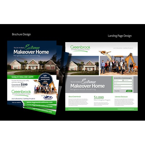 extreme makeover home brochure design + follow up work
