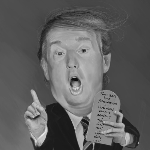 Donald Trump caricature
