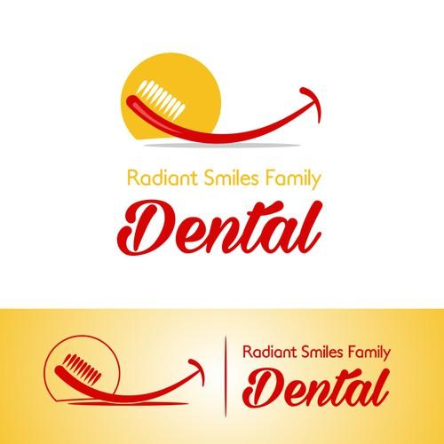 Radiant Smiles Family Dental logo proposal 2