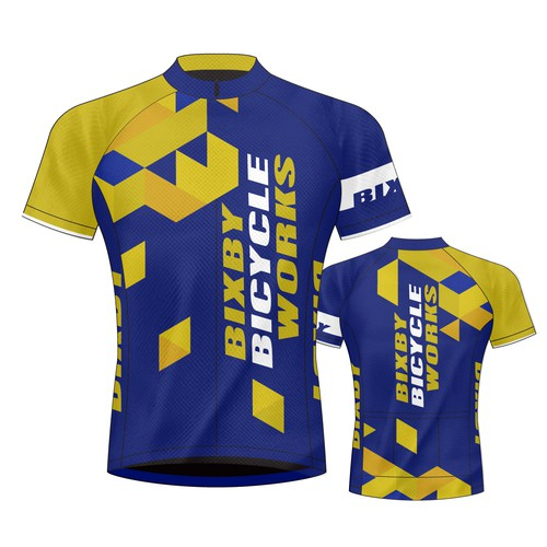 Cycling jersey design for Bixby Bicycle Works