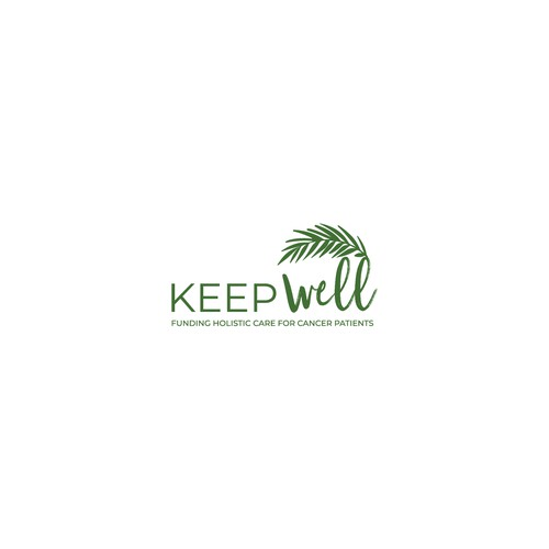 Natural Organic Palm leaf logo