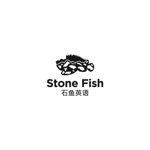 logo conceps for stone fish