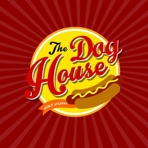 Create a killer classic hot dog cart logo for a University of British Columbia