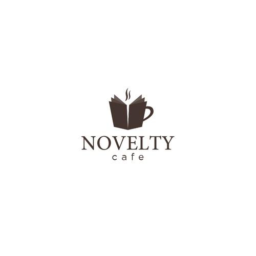 Clean logo for Novelty Cafe