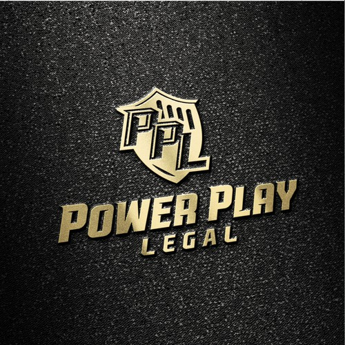 Edgy sporty law firm logo for Power Play Legal