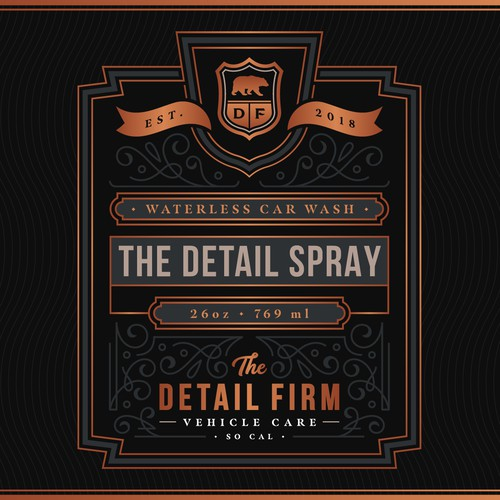 Product Label for The Detail Spray