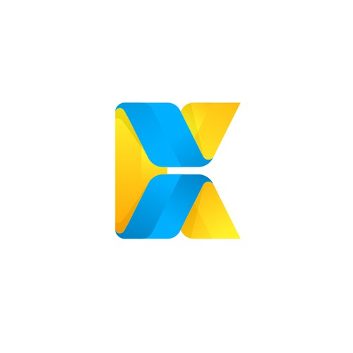 simple and modern letter K logo for KAMETA