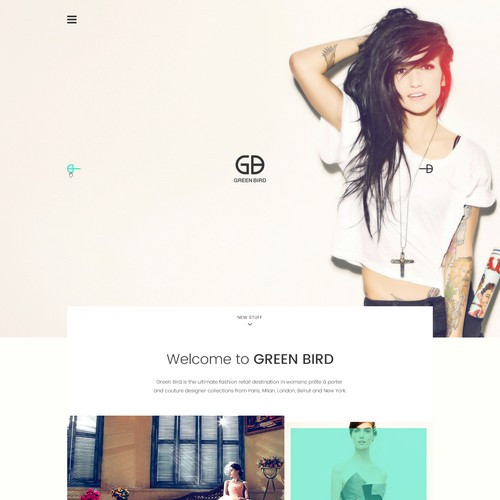 Flat design for Fashion Industry website