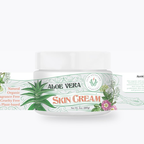 Aloe Vera Skin Cream design proposal for Aloe Skincare Company