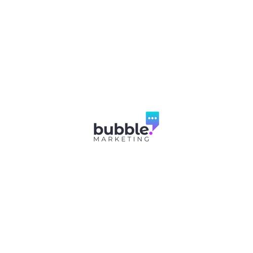 Bubble Marketing Logo Contest Entry