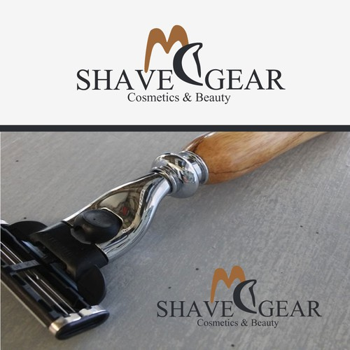 MC SHAVE GEAR MOCK UP AND LOGO