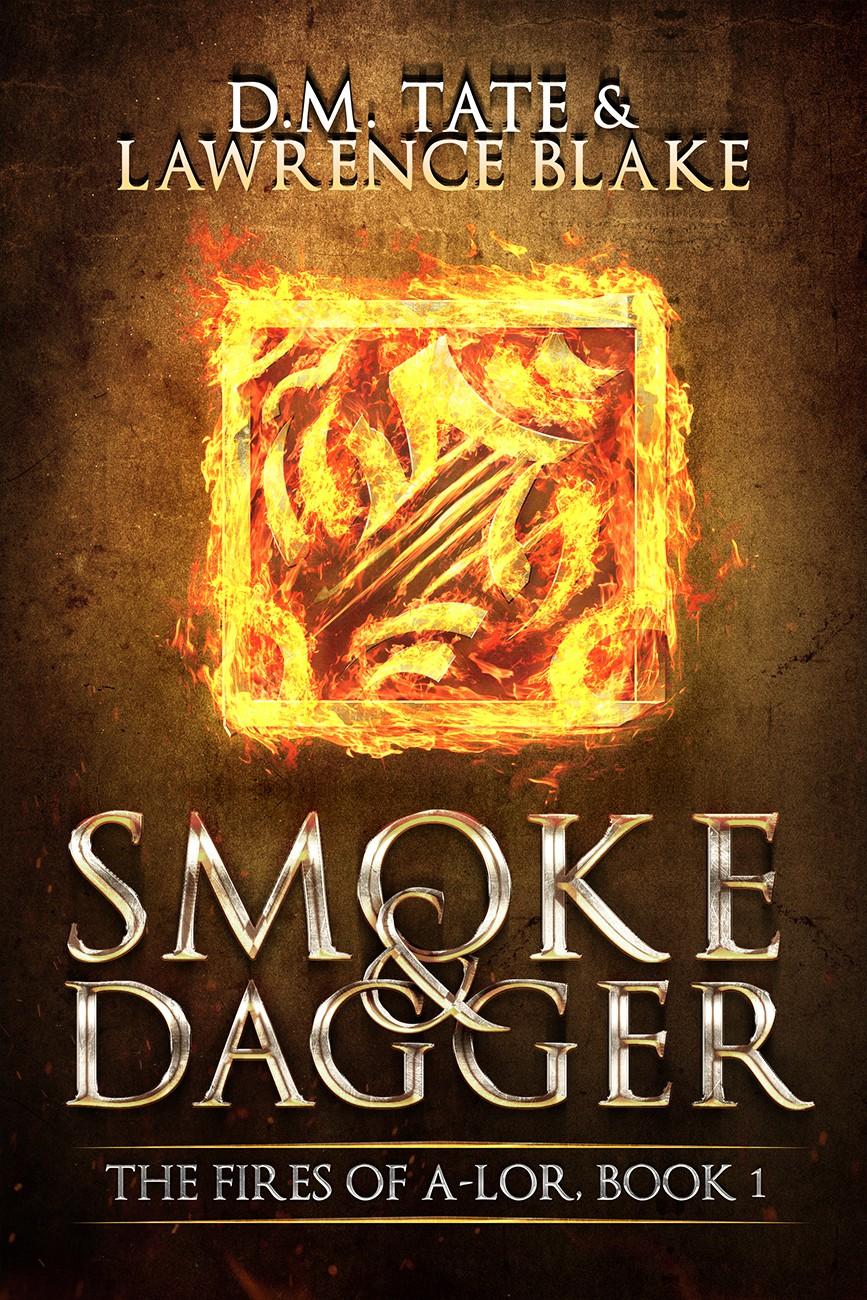 Create an epic fantasy e-book cover that evokes magic, spies, and mayhem